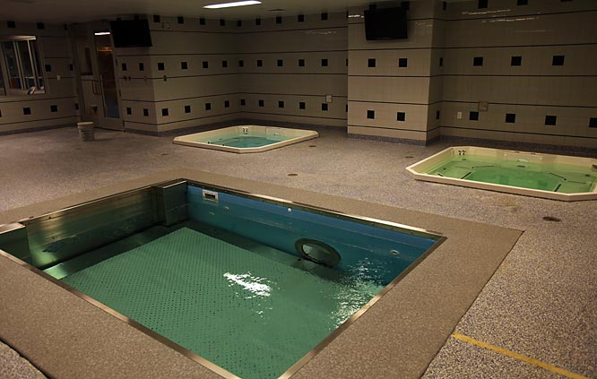Players can rehab in the whirlpool in the home training room.