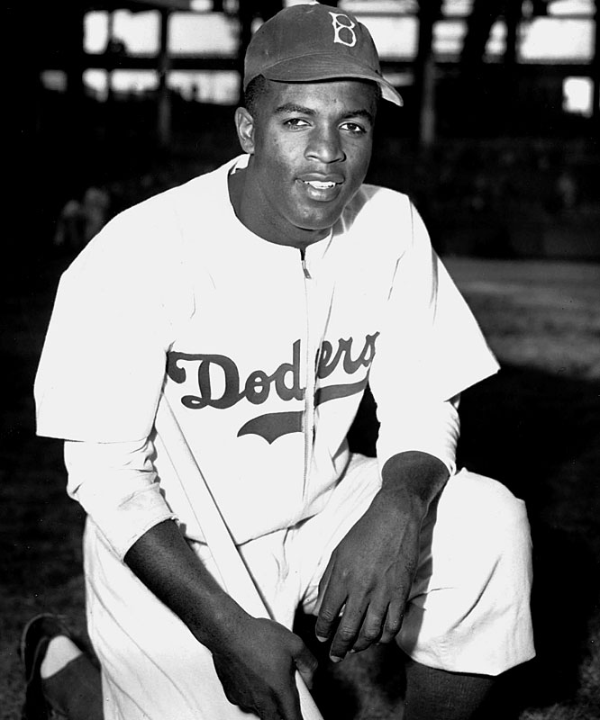 In one of the most culturally significant moments in American history, Jackie Robinson broke the major league color barrier in the Brooklyn Dodgers' season opener against the Boston Braves. Playing first base, Robinson went 0-for-3 in his major league debut, but the impact he made on the nation is immeasurable.