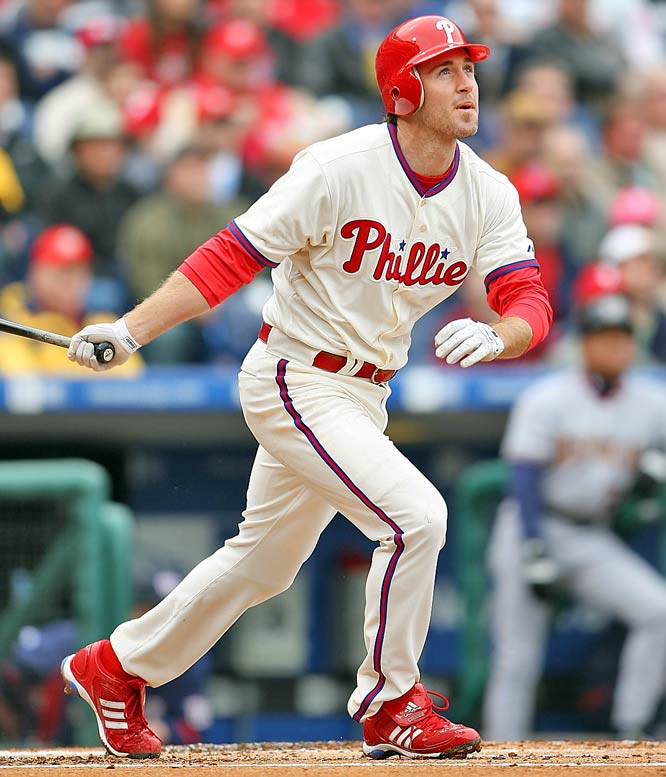 If Utley has the look of a man who's 100-percent recovered from offseason surgery during Spring Training ... there's still time to move up one or two spots in this countdown. After all, there'd be no other justification for downgrading someone who has posted staggering 3-year averages of 29 HRs, 103 RBIs, 116 runs, 13 steals and a .310 average.