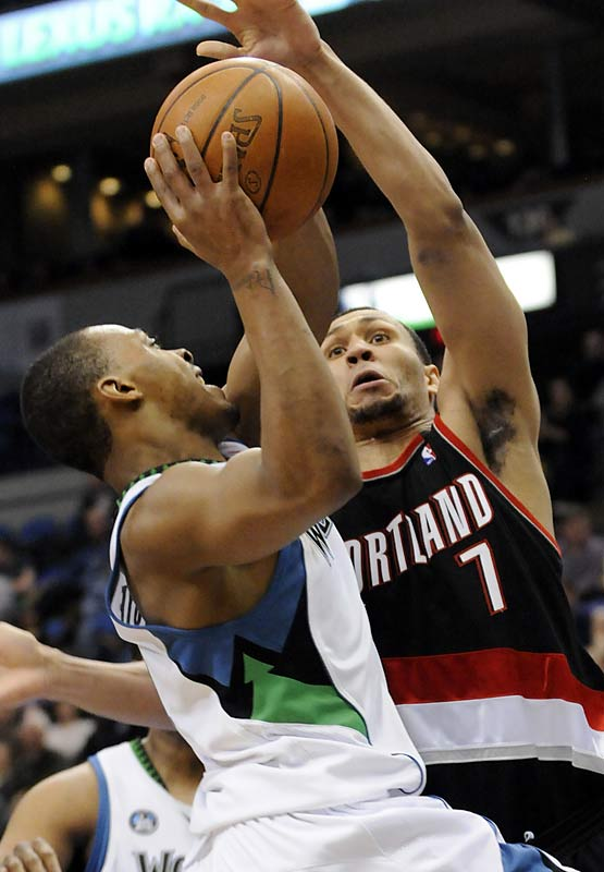 This matchup always serves as a reminder of a draft-night trade three years ago in which Minnesota traded Brandon Roy to Portland for Randy Foye. Roy is now a two-time All-Star while Foye is beginning to find his niche as the Wolves' starting shooting guard. The two should match up plenty in this game.