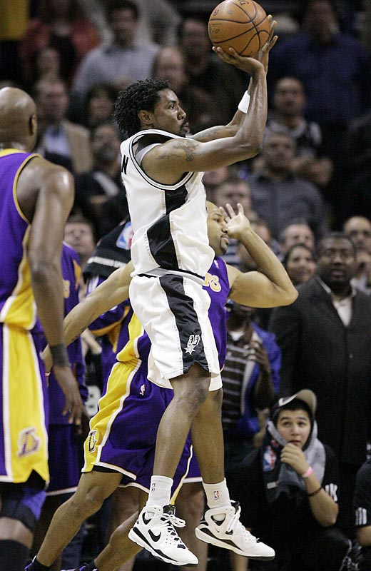 While the Lakers have all but wrapped up the top seed in the West, the Spurs still have work to do to seal the No. 2 seed (and thus avoid L.A. until a potential conference finals showdown). On Jan. 14, the Spurs edged the Lakers 112-111 at San Antonio thanks to Roger Mason's go-ahead three-point play with 10 seconds left.