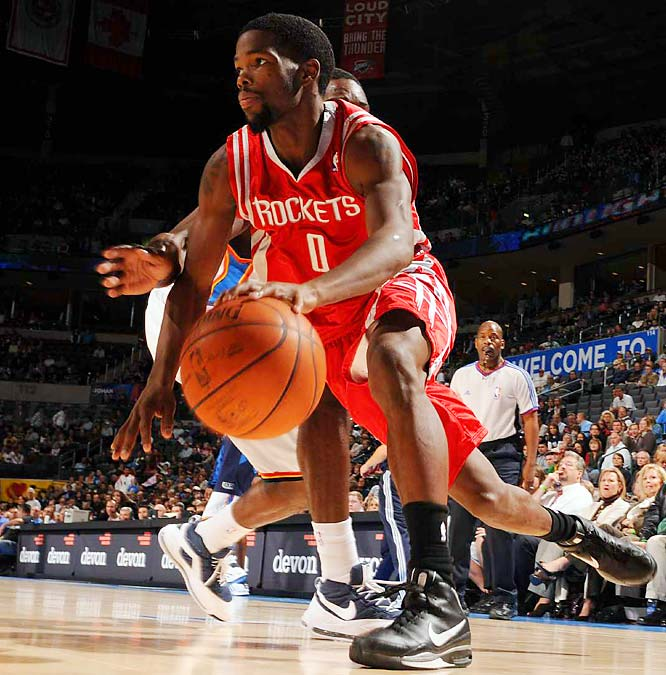 Houston is on San Antonio's heels in the race for the Southwest Division title and the No. 2 seed in the West. The Rockets have played well since losing starting guards Rafer Alston (in a trade) and Tracy McGrady (to injury). Aaron Brooks (pictured) and Kyle Lowry have handled the point well, and Ron Artest has moved to shooting guard to make room for small forward Shane Battier in the starting lineup.