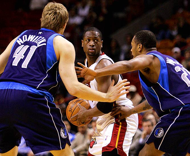 Mavericks fans probably are conditioned to hear a referee's whistle every time they see Dwyane Wade after his one-man parade to the foul line pushed Miami over Dallas in the 2006 Finals. Times have changed but old feelings die hard.