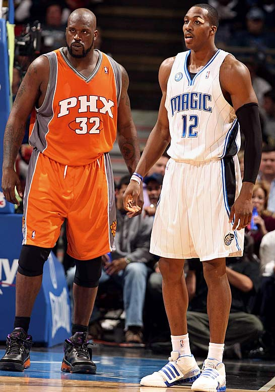 Midway through the 2008-09 season, Shaq wasn't buying talk that Howard was poised to replace him as the next larger-than-life NBA center. ''He's a good player, but everything he's done, I've invented. So I'm not impressed,'' Shaq told CBSSports.com.
