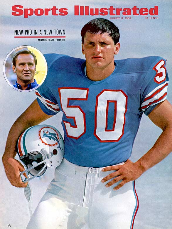The Dolphins were the AFL's first expansion franchise in 1966. After four terrible seasons, Miami made two of the boldest moves in pro football history in the wake of the 1970 AFL-NFL merger. First, it stole Don Shula (inset) from the NFL's Colts. Second, it turned aquamarine into the pigskin power color of the early 1970s. Shula instantly forged the Dolphins into winners, led the franchise to an appearance in Super Bowl VI, victory in Super Bowls VII and VIII and, in 1972, orchestrated the NFL's first and only undefeated season since Curly Lambeau's 1929 Packers.