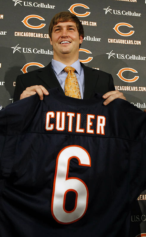 The Broncos' quarterback wanted out of Denver, and he got his wish. The Bears traded their own young quarterback, Kyle Orton, two first-round picks and a third-round pick to Denver for Cutler, who threw for a Broncos franchise record 4,526 yards last season.