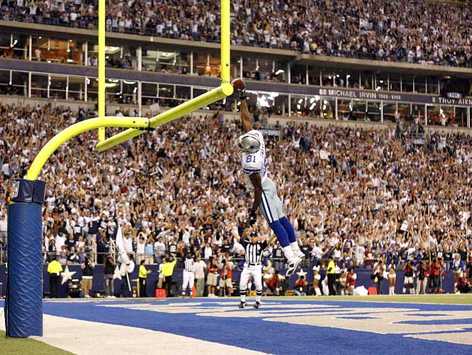 On Nov. 18, 2007, Owens set a new career-high and tied a franchise record with four touchdown catches against the Redskins.