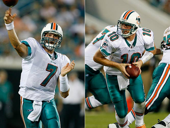"Incumbent Chad Pennington was thought to be the unquestioned starter heading into 2009, but a recent Miami Herald story shed some doubt it was a foregone conclusion. ""We need to get Chad Henne ready to play,"" a source told the paper. ""... We do need to give Henne a chance to get ready because his time is coming."""