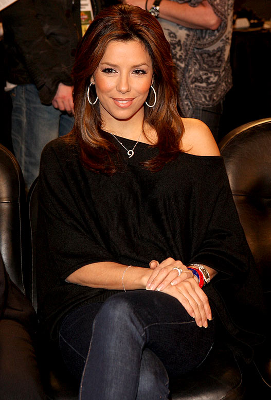 Normally, no one brags about having a pregame media meal at a Clippers game. That's mainly because there aren't that many media members there, but when Eva Longoria is sitting at your table, well that's another story. While the Lakers might have exclusive nooks and crannies for their celebs to hang out at during games, Longoria was slumming it with us media folks before the Clippers-Spurs game. It could have been worse. She could have been part of Donald Sterling's entourage that usually makes the supposed work room their postgame club after games.