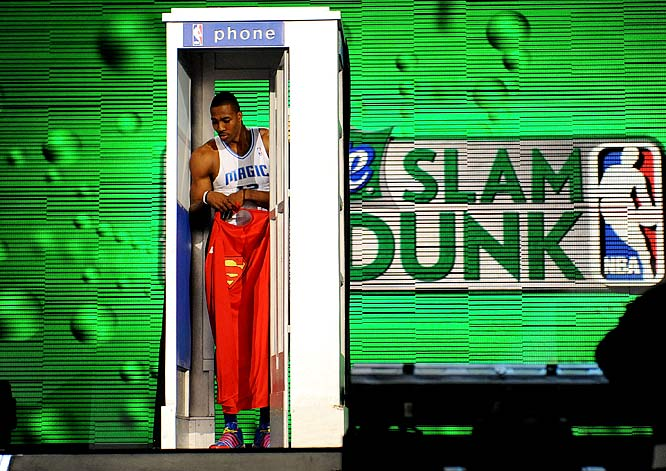 So the fake phone booth Howard briefly used in his unsuccessful bid to repeat as the NBA Slam Dunk champion is being auctioned for $1,500 by the NBA. Not surprisingly, there has been no bids. By the way, if you're in the market for a phone booth with a pay phone that actually works, you can get one for less than $500 on eBay.