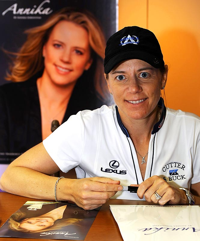 """Retirement came at a good time for Sorenstam and husband Mike McGee, who announced they are expecting their first child. When Sorenstam retired from the LPGA Tour last year, she said she had """"other priorities in my life."""" Now it's apparent what those priorities are."""