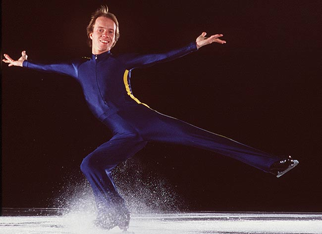 Scott Hamilton wins the Men's Figure Skating Championship in Helsinki.