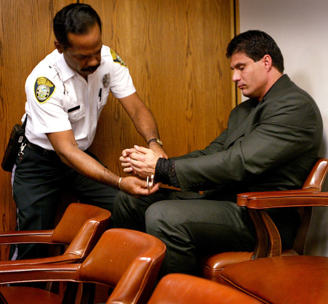 Jose Canseco was released from jail. He was then sentenced to two years of house arrest and three years of probation for his part in a nightclub brawl on October 31, 2001.