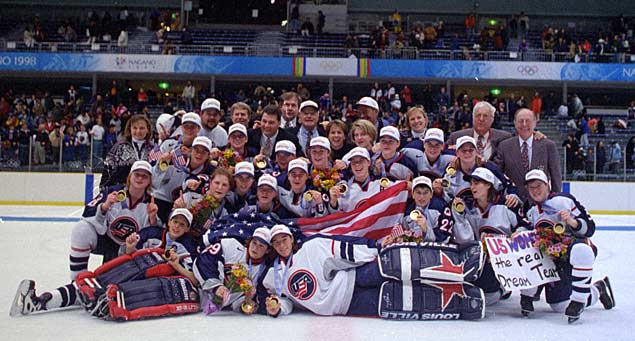 USA Women's Hockey Team beats Canada for its first Olympic Gold medal.