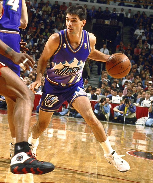 Utah's John Stockton has one steal in the Jazz' 113-100 win over the Celtics, becoming the first player in NBA history to record 2,500 career steals.