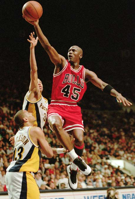Michael Jordan returns to the Chicago Bulls after nearly two years of retirement, scoring 19 points in the loss to the Indiana Pacers. The game, televised on NBC, becomes the most watched regular season game in NBA history, with an estimated 35 million viewers.
