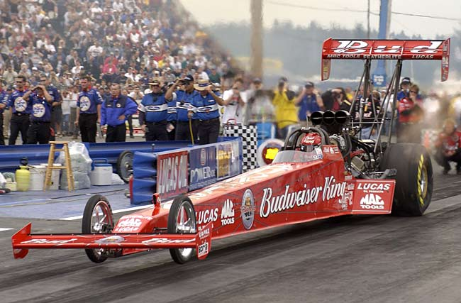 Kenny Bernstein becomes the first drag racer to break the 300 mph barrier. He averages 301.7 mph in a qualifying run at the National Hot Rod Association's Gator nationals.