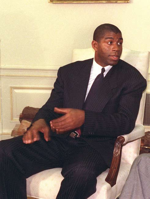 Magic Johnson returns to the Los Angeles Lakers as head coach and leads them to a 110-101 victory over Milwaukee. Johnson would go on to coach the Lakers for the last 16 games of the 1993-94 season, posting a 5-11 record.