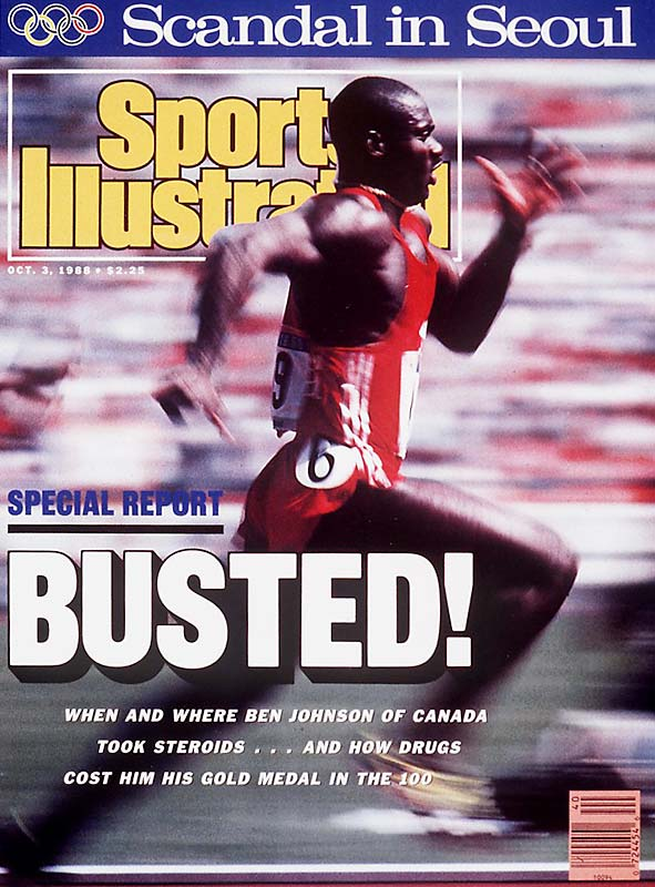 Four years after winning two bronze medals at Los Angeles, Canadian sprinter Ben Johnson became the face of doping in sports when he was stripped of both his 100M world record and 100M gold medal at the Seoul Games.