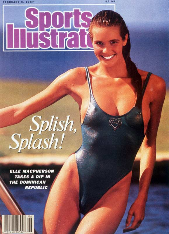 Elle Macpherson rode appearances on the covers of Elle and Sports Illustrated to international fame in the '80s. In all, she appeared on the cover of SI five times, including three consecutive years beginning in 1986.