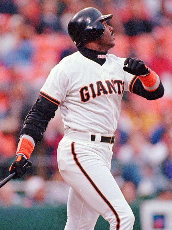 Barry Bonds, joins his father and godfather, becoming only the fourth major leaguer to hit 300 homers and swipe 300 bases as he homers for the Giants' in a 6-3 victory over the Marlins. Bobby Bonds, Willie Mays and Andre Dawson are the only other 300-300 players.