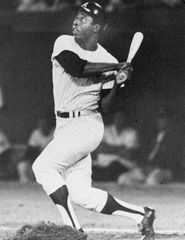 Hank Aaron earned his first hit off of Gaylord Perry in seven years to become the third member of the 600 career home runs club. Upon his retirement, Aaron was the leading slugger of all time.