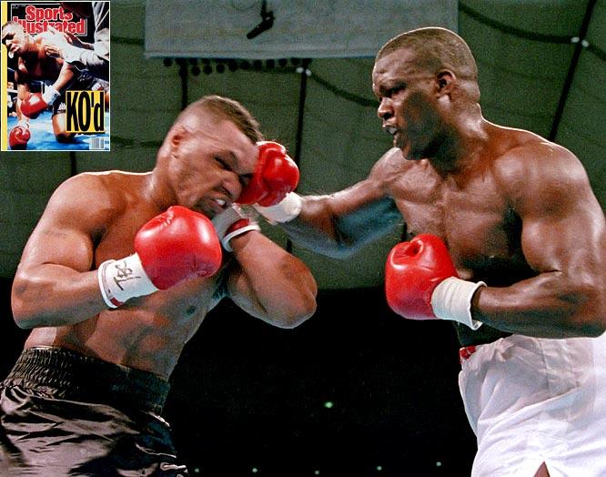"As his life continued to spiral, Tyson took the first professional loss of his career to James ""Buster"" Douglas on Feb. 11, 1990 -- a knockout that has been described as one of the most shocking upsets in sports."