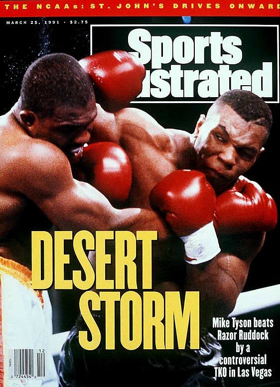 The first meeting between Tyson and Donovan Ruddock, on March 18, 1991, was marred with controversy as referee Richard Steele stepped in to end the fight in the seventh round and Ruddock received a slew of punches from Tyson. The Canadian brawler appeared to be fully conscious and fine, despite the hard hits, and the premature stoppage resulted in an all-out brawl between the two camps. Tyson was given the TKO victory, and when the two fought in a rematch just a few months later, Tyson won by unanimous decision.