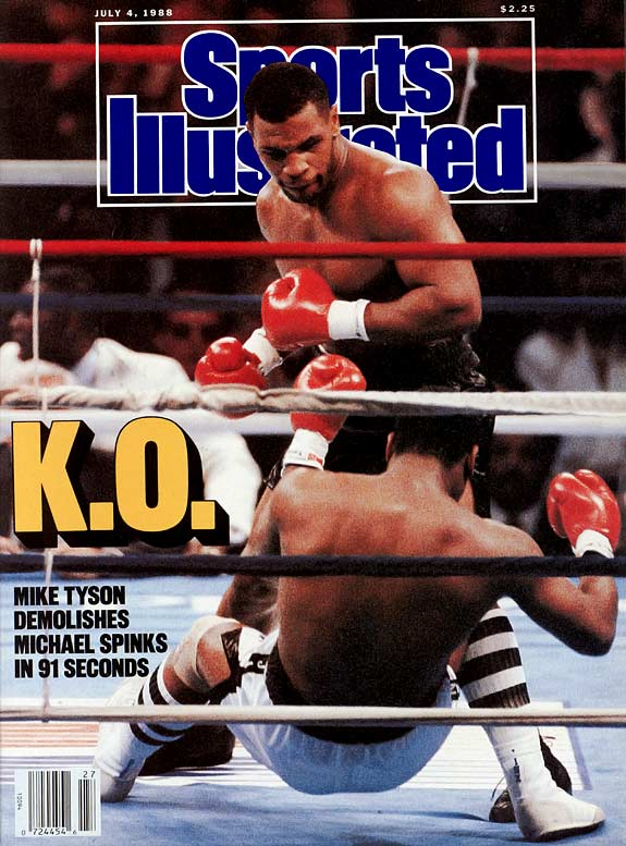 Nearly five months after downing Holmes, Tyson took on Michael Spinks. The result was not pretty, as Spinks was KO'd in 91 seconds and never fought professionally thereafter.