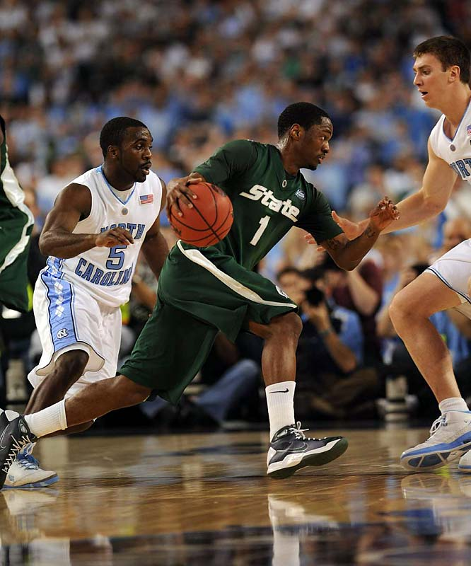 Kalin Lucas failed to get his team in gear against UNC in the first half.