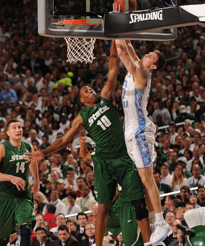 Tyler Hansbrough and North Carolina jumped out of the gates early and shocked Michigan State.
