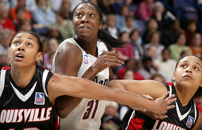 Tina Charles helped UConn break what's considered a national title drought for a program that's won six since 1995.