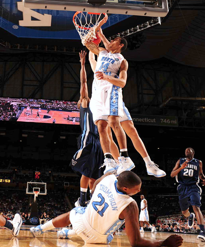 The 152 total points scored between UNC and Villanova doesn't reflect the physical nature of the game itself. Strange but true: The smaller Wildcats actually outrebounded the Heels, 50-46.