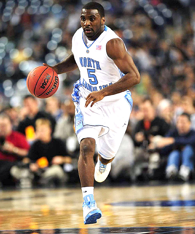 UNC guard Ty Lawson ran wild and free against 'Nova on Saturday, racking up a team-best 22 points and eight assists, along with seven rebounds.
