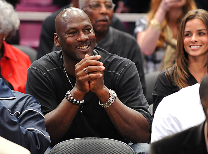 Michael Jordan was a proud papa in the Madison Square Garden stands.