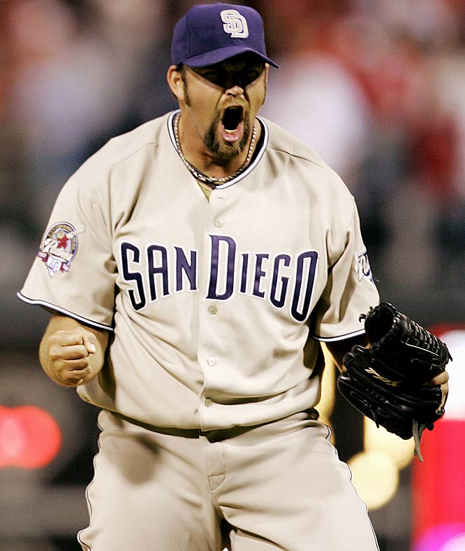 The Padres allowed the all-time saves leader and franchise face to leave via free agency in the offseason, handing the closing duties to Heath Bell. Bell leads the majors with seven saves and hasn't allowed a run. Meanwhile, Hoffman has yet to pitch in a game, opening the season on the DL with a strained right oblique.