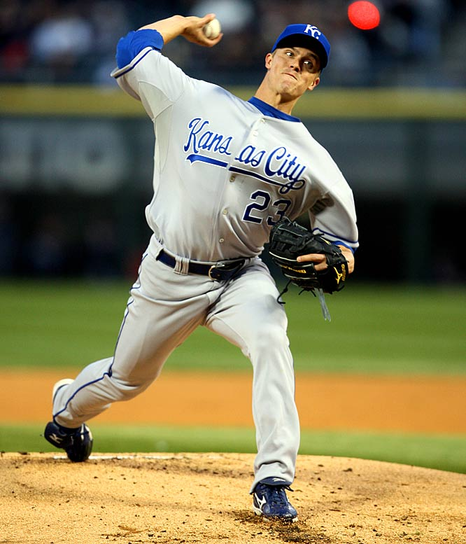 It's been almost seven years since Greinke was selected as the No. 6 overall pick, and it looks like he's ready to fully realize his potential with a 3-0 start. The Royals' ace has yet to allow a single run, thanks in large part to a 25-to-5 strikeout-to-walk rate.