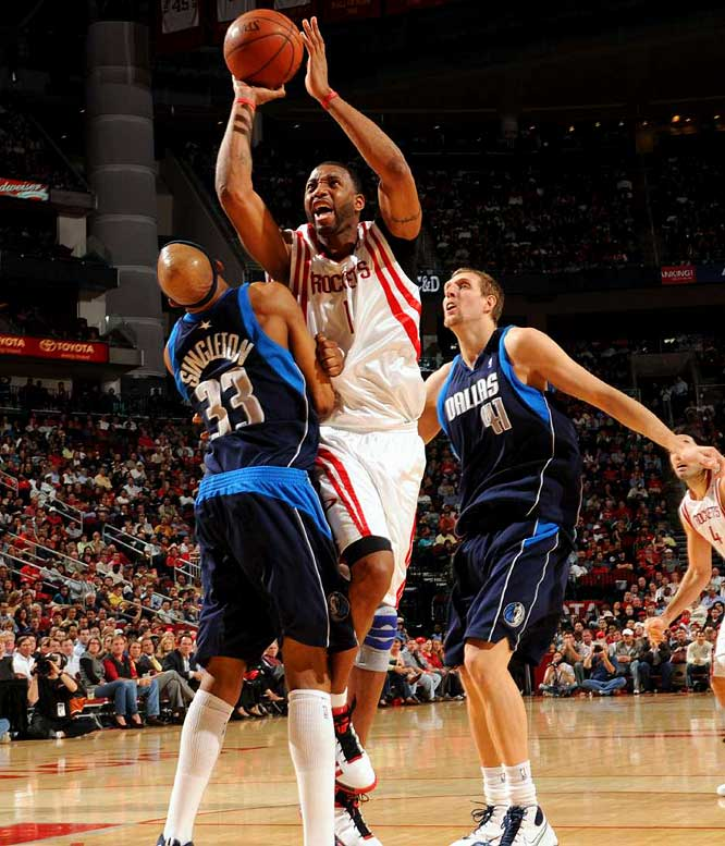 After shooting a career-low 38.8 percent while shuffling in and out of the lineup with knee soreness, McGrady underwent season-ending microfracture surgery in February. The Rockets won 17 of their next 22 games without McGrady to move into contention for the No. 2 seed in the Western Conference.