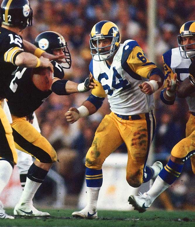 "Reynolds didn't get as much recognition as some of the other Rams defensive stars, but he was a stalwart at middle linebacker for an outstanding unit for more than a decade. Reynolds' main competition at No. 22 was William ""the Refrigerator"" Perry, whom the Bears took in 1985, but he was more of a freak show than an actual contributor."