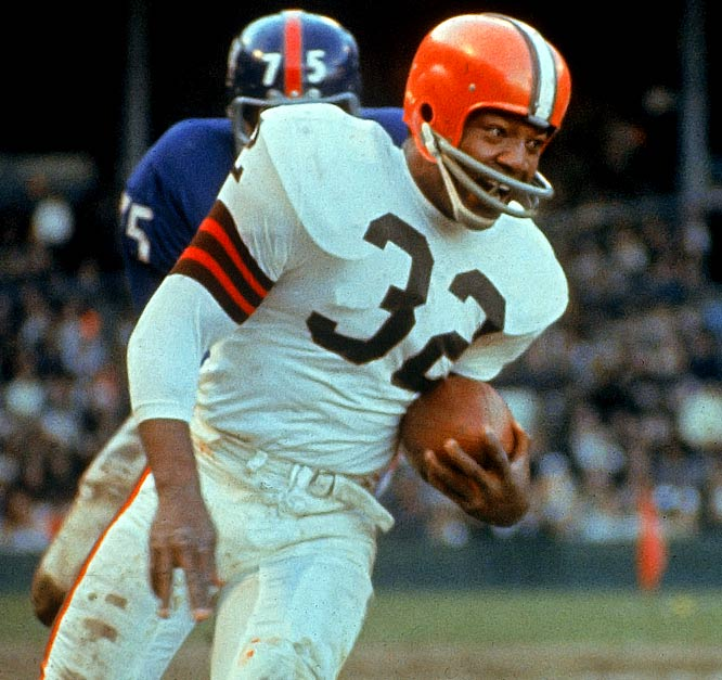 The Browns were certainly lucky Brown fell to No. 6. He may not hold all the records, but it's easy to argue he's the best running back of all time. Slingin' Sammy Baugh, James Lofton, John Riggins and offensive tackle Walter Jones also were picked sixth overall.