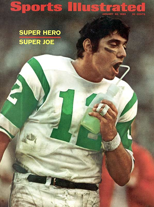"This selection is a bit deceiving because Namath joined the AFL instead of going to the Cardinals. But ""Broadway Joe"" has to get the nod for leading the Jets to victory in Super Bowl III and transforming the game."