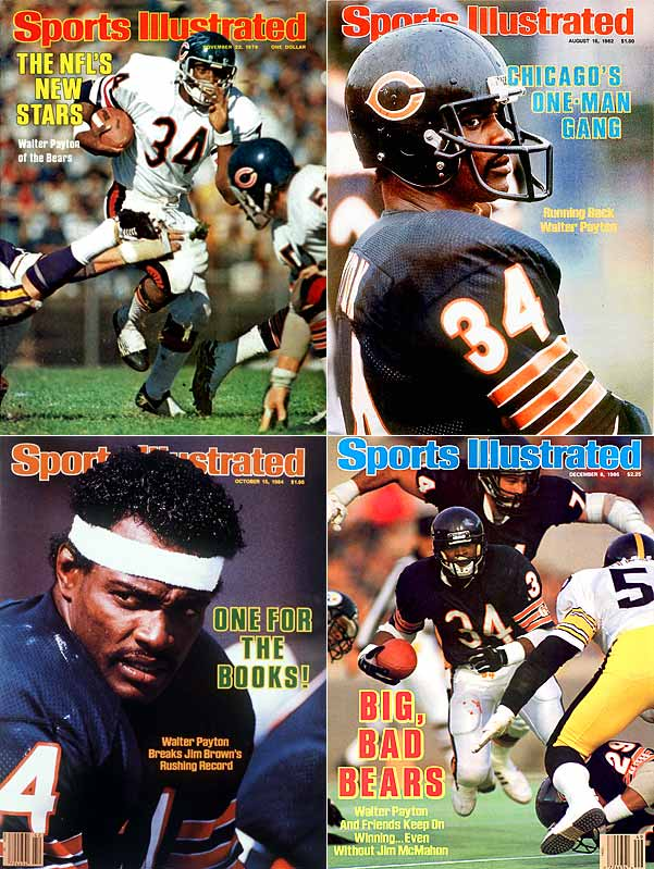 Sweetness held the all-time rushing record until Emmitt Smith broke it in 2002, and embodied everything you could want in a football player. Still, he barely edged Otto Graham, the Browns QB who was the ultimate winner. Bears running back Gale Sayers' career was too brief to put him in the top spot.
