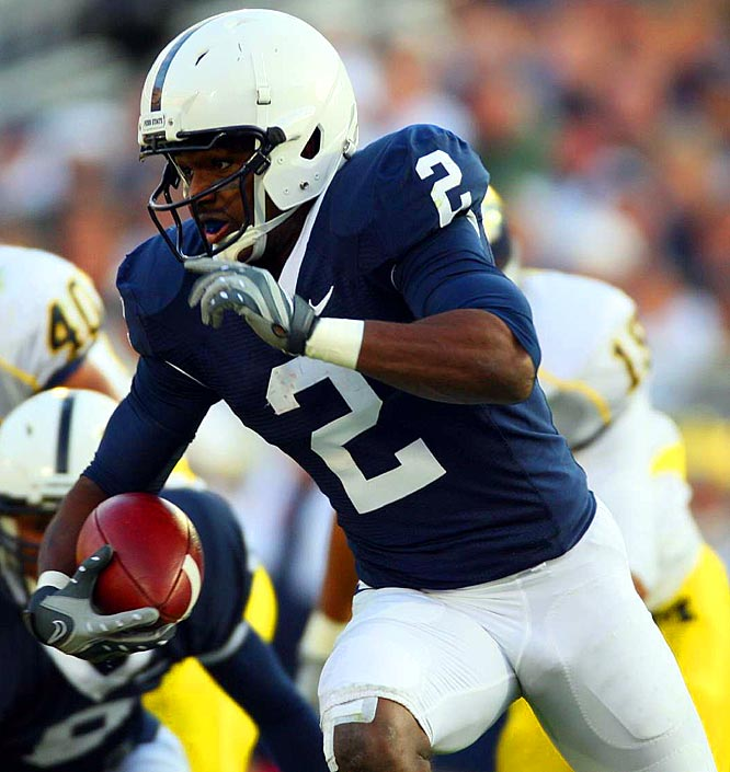 A former high school quarterback, Williams took direct snaps at Penn State and ran for 243 yards as a senior. He only completed one pass last season, but he's considered by many to be more of a threat with his arm than many other Wildcat options.