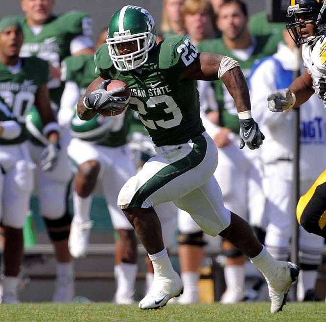 Ultra-productive for the Spartans, Ringer will probably be a third-down back in the NFL.