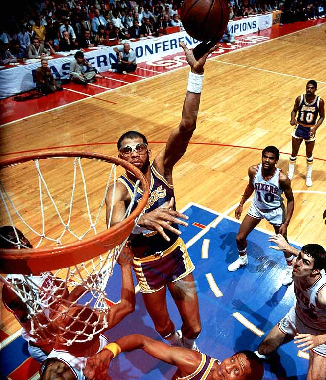 "Abdul-Jabbar has trademarked the words ""sky hook,"" the signature shot that helped the Hall of Famer become the greatest scorer in NBA history. Too bad it's a shot that's as outdated as his goggles, short shorts and LA Gear sneakers."