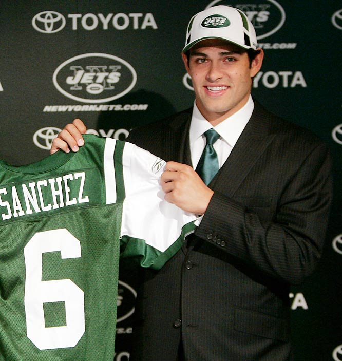 The Jets gave up a lot for a quarterback who, according to Pete Carroll, wasn't ready for the NFL yet. Then again, some might argue that based on his record, Carroll isn't the best judge of what works in the NFL. Thankfully for the Jets, there are no teams in Oregon, where Sanchez went 0-2 and threw late, game-clinching interceptions in both Eugene (against Oregon in 2007) and Corvallis (against Oregon State in 2008) to dash USC's national championship hopes.