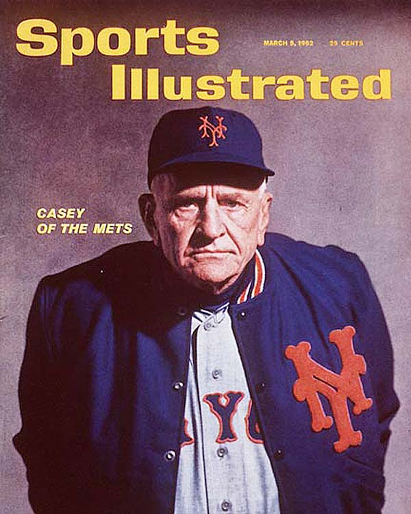 Two years after Stengel was unceremoniously retired from the Yankees, the Bronx Bombers' crosstown rivals picked up the 72-year-old to head the Mets in 1962.  Despite his success with the Yankees in his earlier gig, he had a dismal .302 winning percentage with the Mets.