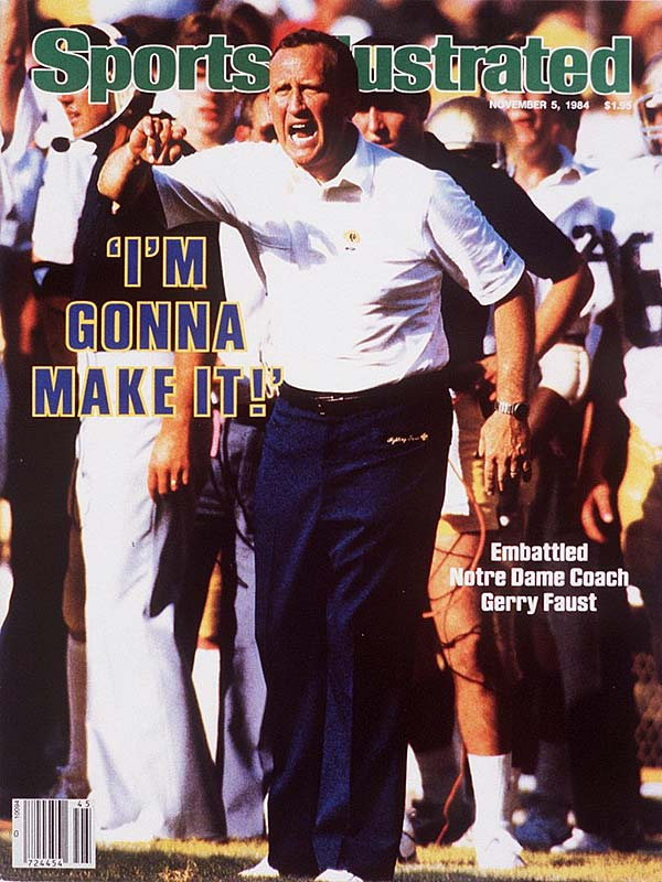 At a school where football coaches come in with long resumes, the Irish faithful were shocked when successful high school coach Gerry Faust was hired to take over the team in 1981.