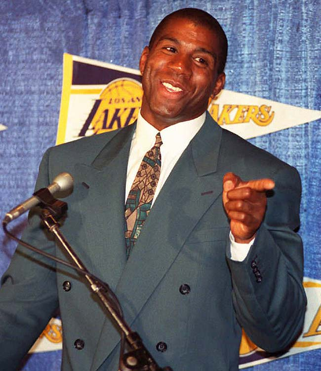 Less than a year after an aborted attempt at a comeback as a player, Lakers legend Magic Johnson was hired as his old team's head coach in 1994.  He quit at season's end, blaming the attitudes of some of his players.