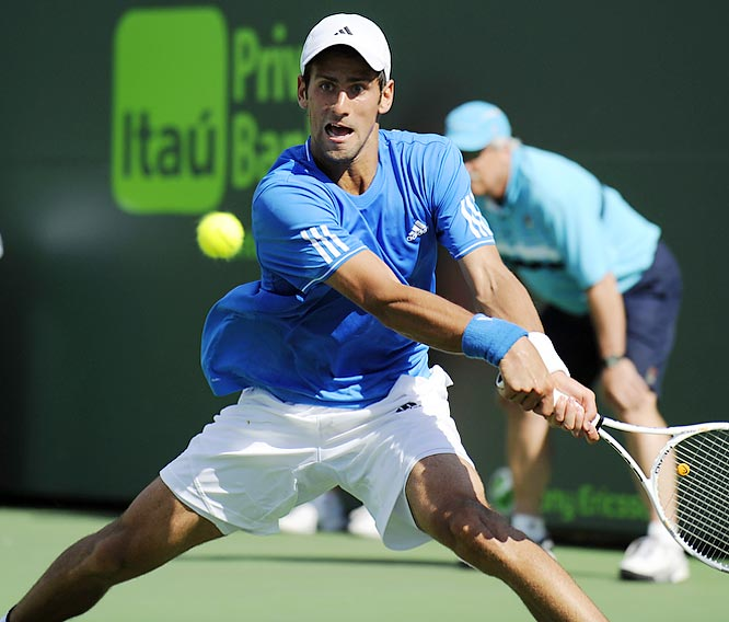 The Serb is hot in Florida as he frustrated Roger Federer Friday in his semifinal victory over the No. 2 player